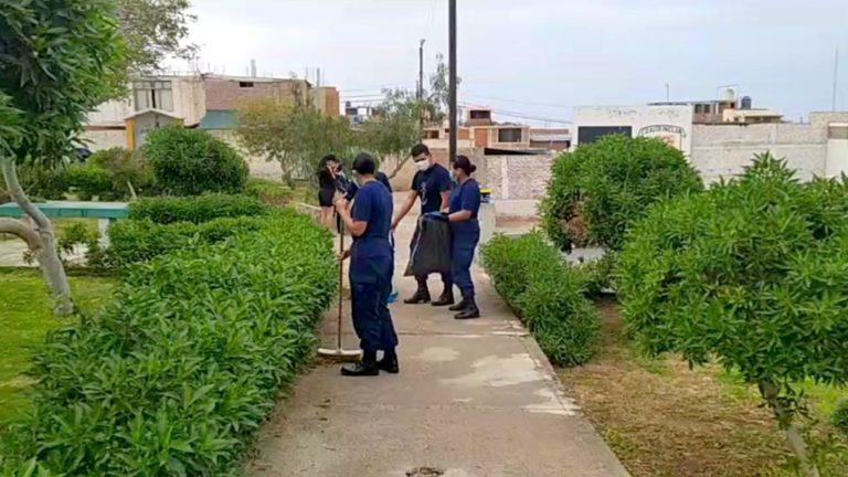 Mollendo: Realizan jornada de limpieza en coliseo Víctor R. Haya de la Torre de Alto Inclán