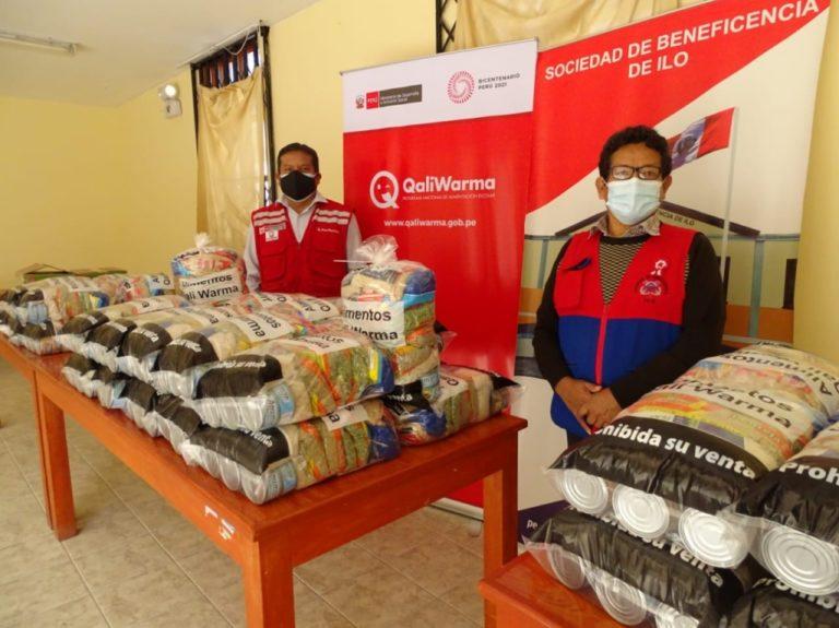 Más de una tonelada y media de alimentos entregó MIDIS Qali Warma a Beneficencias Públicas