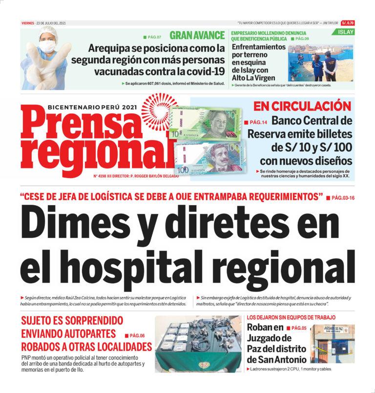 La Prensa Regional – Viernes 23 de Julio del 2021