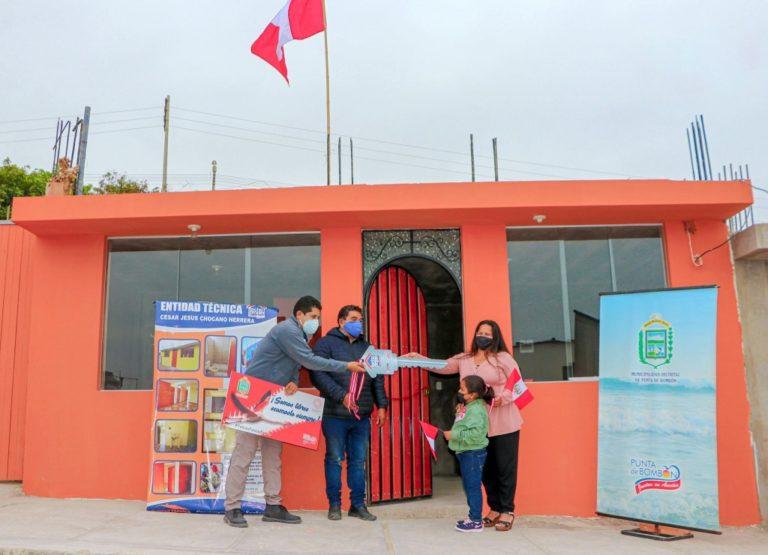 Techo Propio: Inauguran 7 viviendas en Punta de Bombón