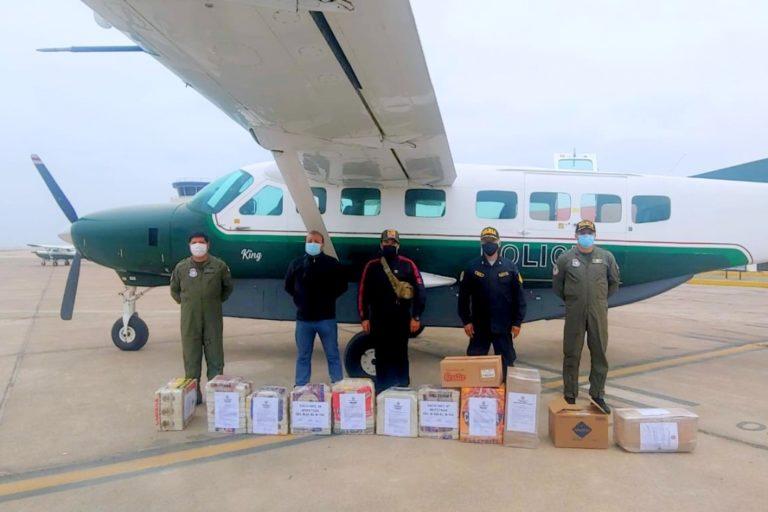 Trasladan a Lima cargamento de droga incautada en la región Moquegua
