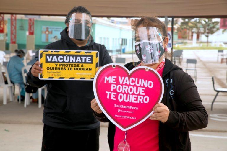 Convenio Minsa – Southern Perú: más de 11,000 ileños vacunados en primeras dos jornadas