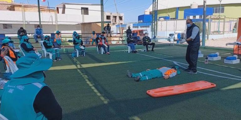 Matarani: capacitan a personal de primera línea en primeros auxilios