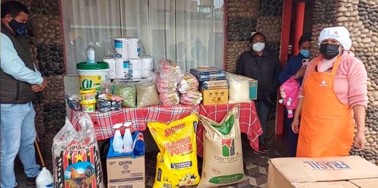 Matarani: entregan productos no perecibles y útiles de aseo a comedores populares