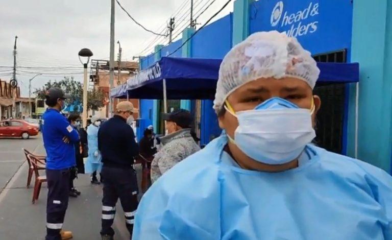 Ilo: Realizan campaña de salud dirigido a comerciantes en la plaza Mariscal Nieto