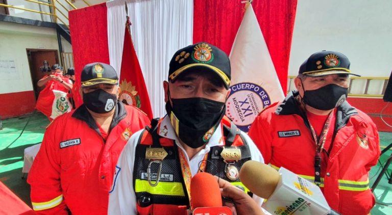 Comandante del Cuerpo General de Bomberos reconoce falencias que tiene Ilo