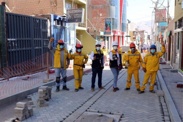 Adoquinado de vías de la zona monumental de Moquegua alcanzó un 80%