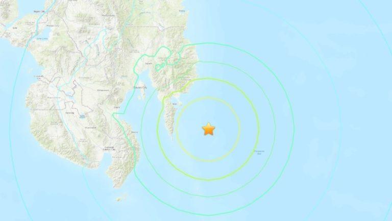 Se registra terremoto de magnitud 7,1 cerca de las costas de Filipinas