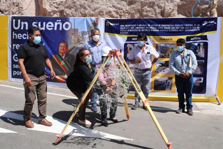 Vecinos del cercado de Moquegua con calles renovadas tras más de 60 años de espera