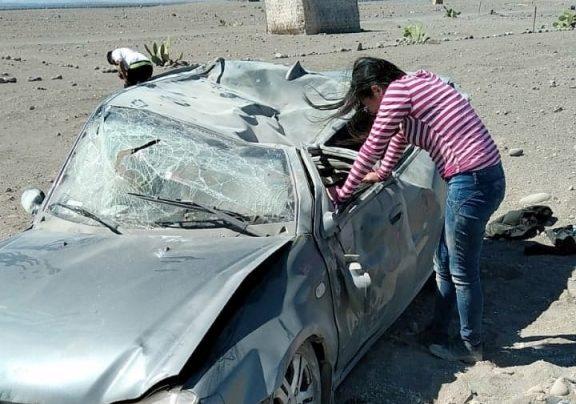 Moquegua: Un muerto y 5 heridos dejan como saldo despiste y volcadura de vehículo
