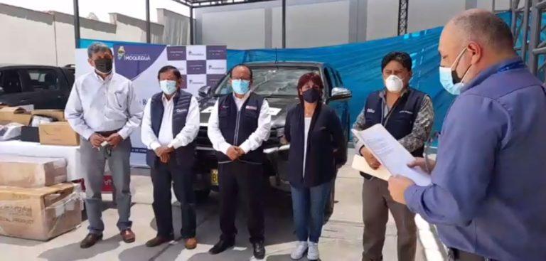 Anglo American entrega 2 vehículos y 20 equipos de alto flujo a la GERESA Moquegua