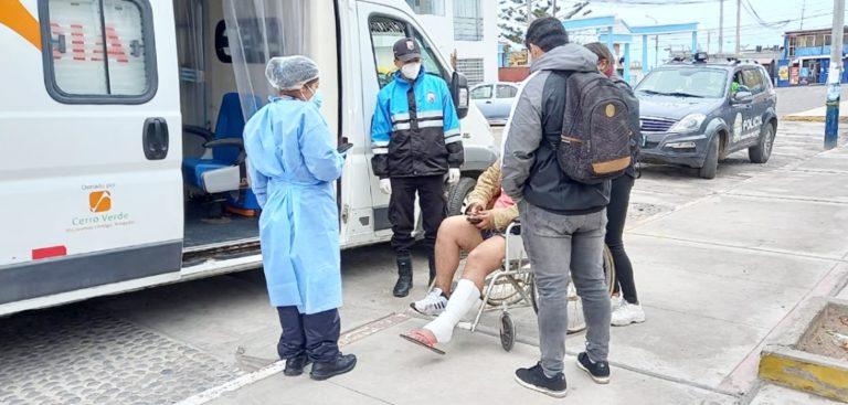 Matarani: trabajadores de seguridad ciudadana atienden emergencias