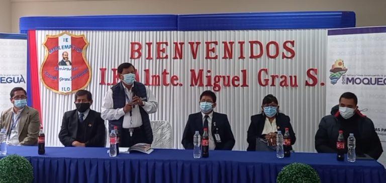 Ilo: Inauguran tercera etapa de obra en la I.E. Miguel Grau de la Pampa Inalámbrica