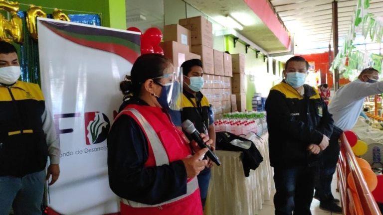 El FDM entregó insumos de bioseguridad a comerciantes del Mercado Central