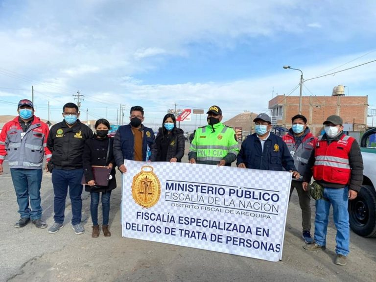 Trata de personas: fiscalía de Arequipa realizó operativo en el Km 48