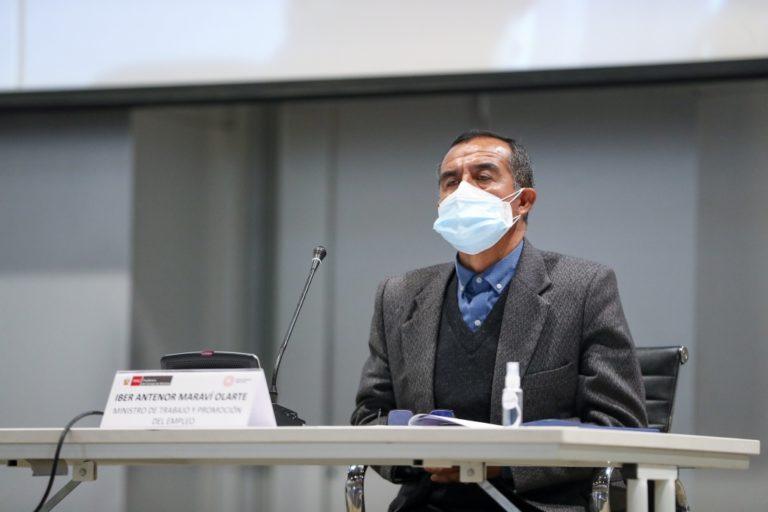 Iber Maraví reitera que no renunciará a su cargo como ministro de Trabajo