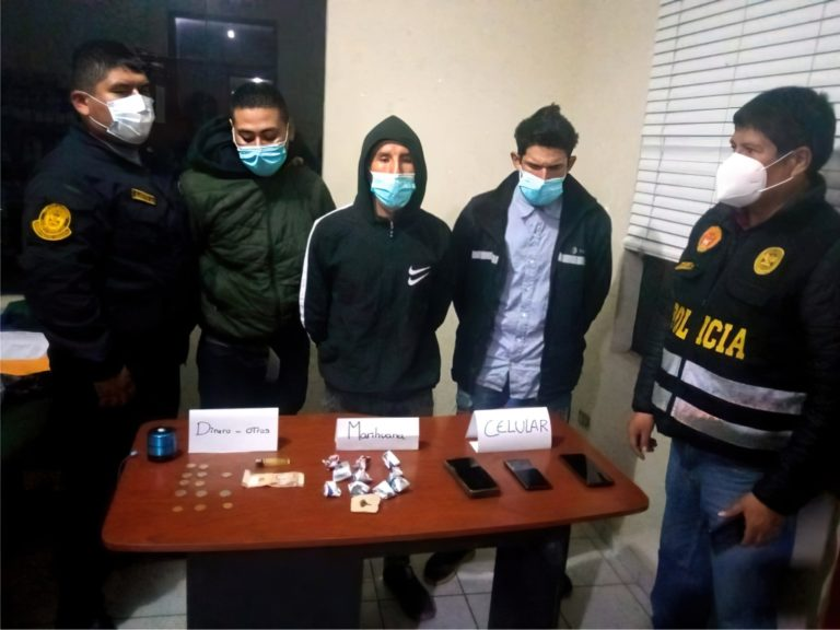 Policía de Mollendo interviene a tres sujetos con RQ y drogas