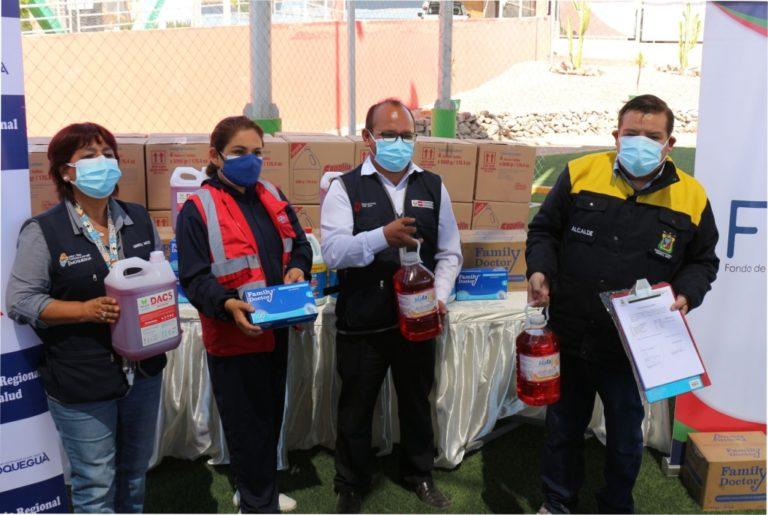Moquegua: Implementación a los agentes comunitarios, centros de salud y niños vulnerables fortalecen las acciones sanitarias contra la Covid-19