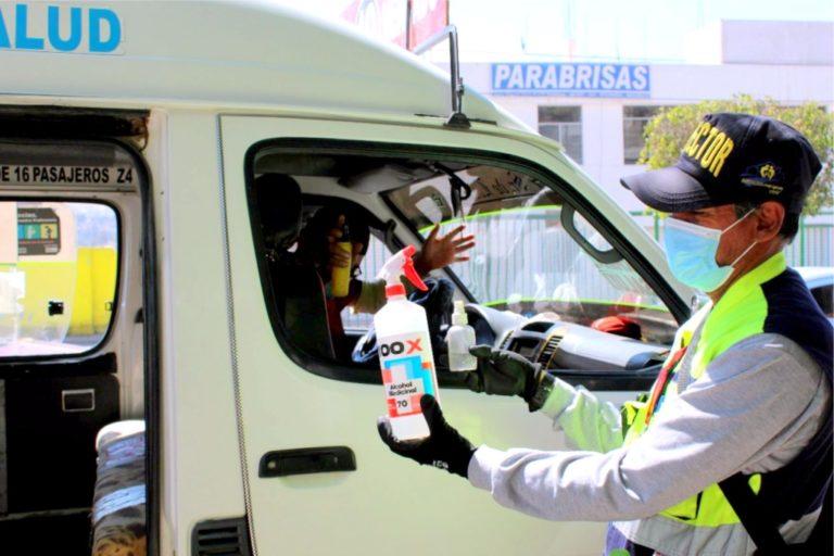 Covid-19: municipio de Moquegua redobla control a transportistas y usuarios