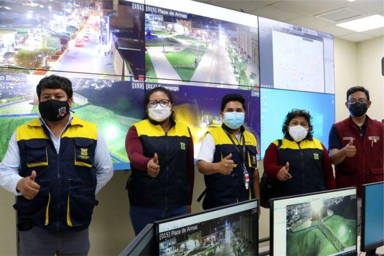 Moderno sistema de video vigilancia en central de monitoreo de serenazgo de Moquegua