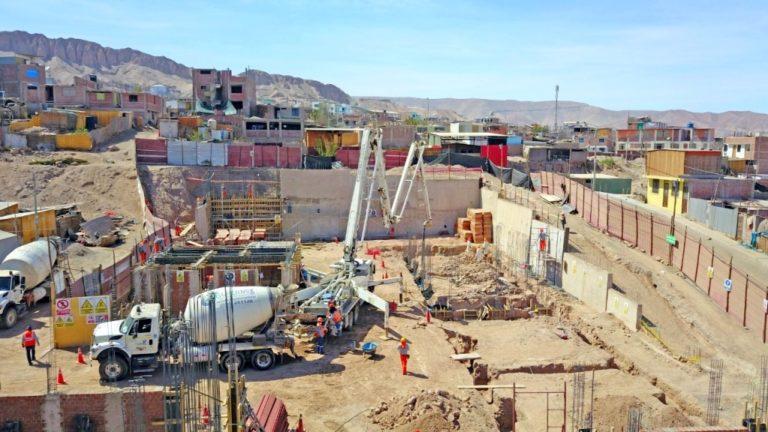 Avanza la construcción de la I.E. N° 346 en San Antonio