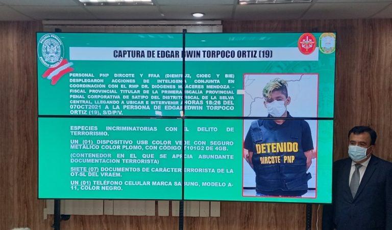 PNP capturó a terrorista de SL con información para asesinar a colaboradores eficaces y periodistas