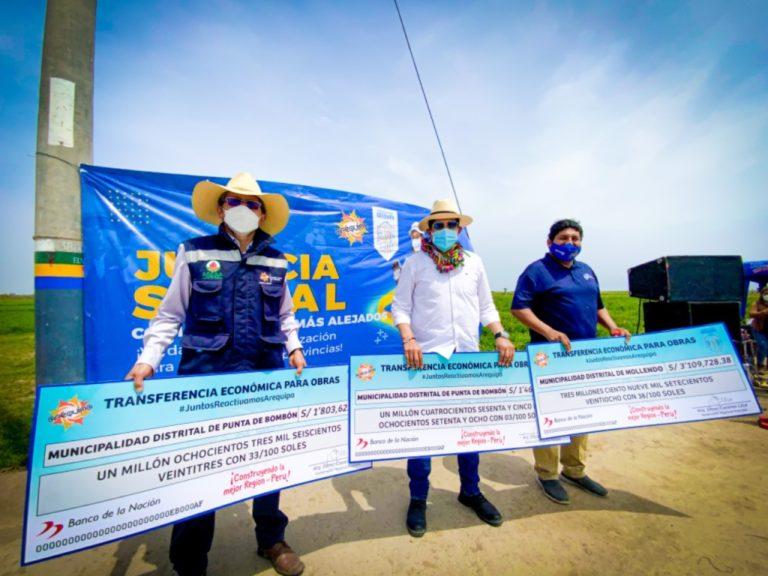 GRA transfiere S/ 12 millones a municipios de la provincia de Islay
