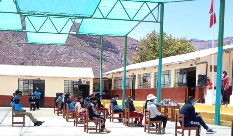 Inician clases semipresenciales en II EE Miguel Grau de Yalagua