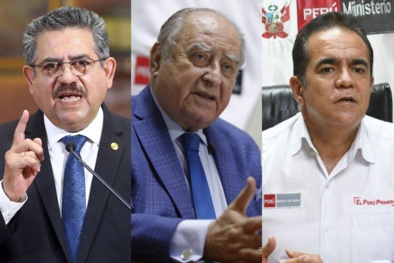Fiscal de la Nación denunció constitucionalmente a Manuel Merino, Ántero Flores y Gastón Rodríguez