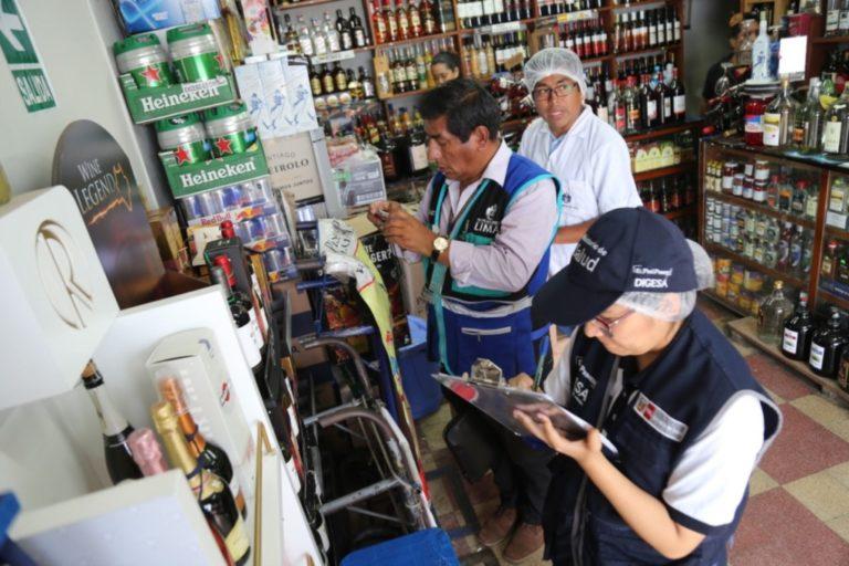 Incautaron 22 cajas de licores en el cercado de Arequipa