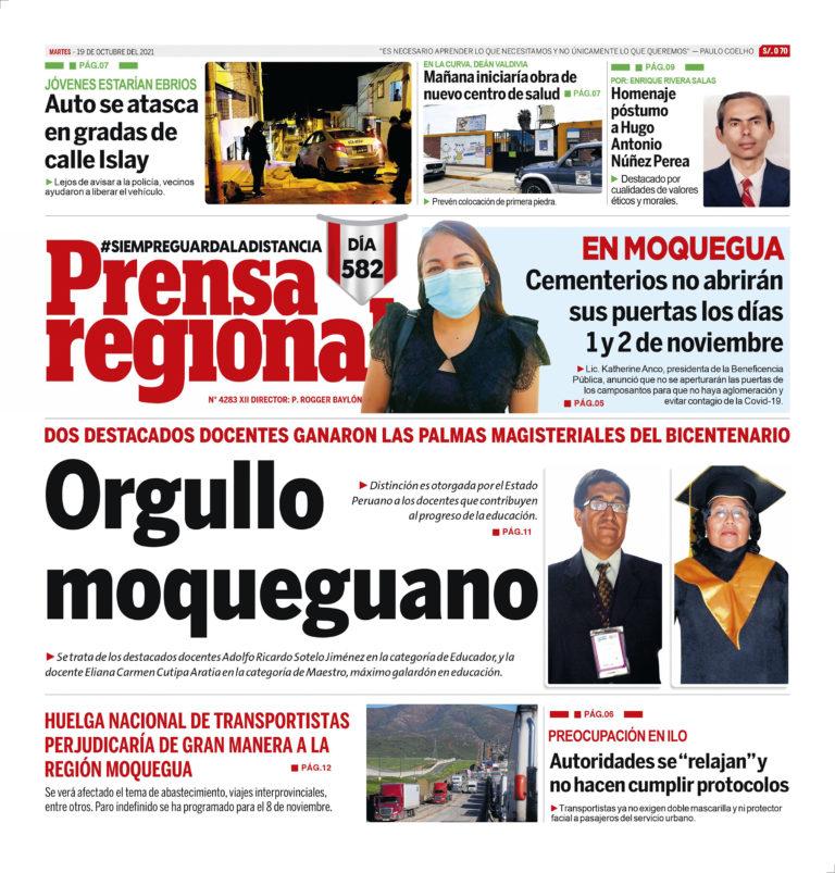 La Prensa Regional – Martes 19 de Octubre del 2021