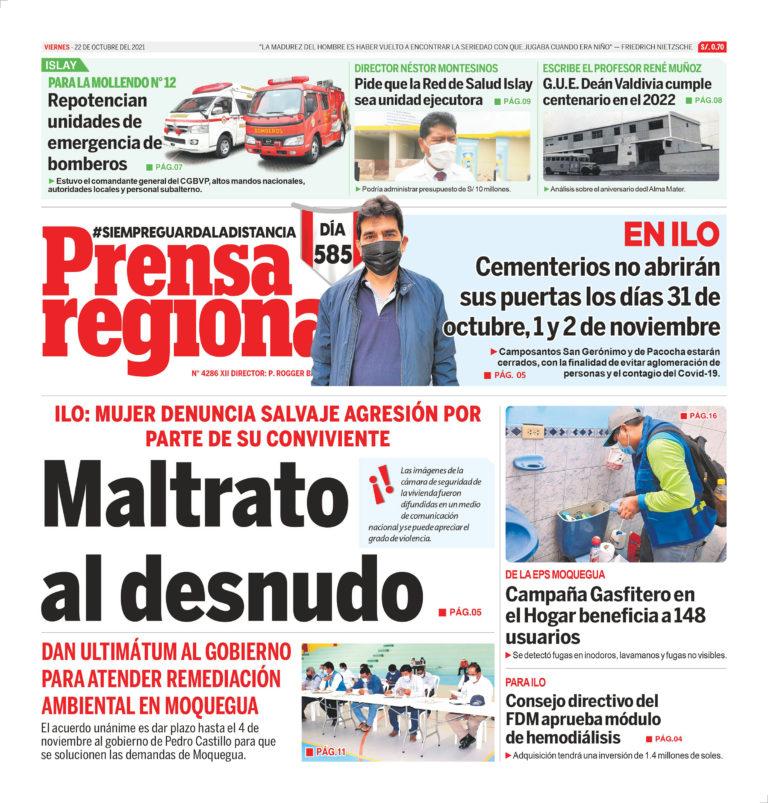 La Prensa Regional – Viernes 22 de Octubre del 2021