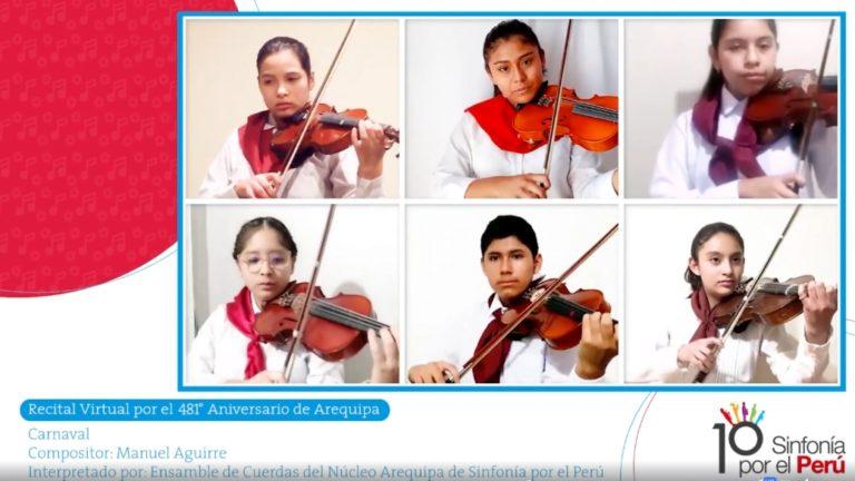 Niños y jóvenes de Torata, Ilo y Tacna del programa promovido por Sinfonía por el Perú y Southern ofrecerán recitales virtuales