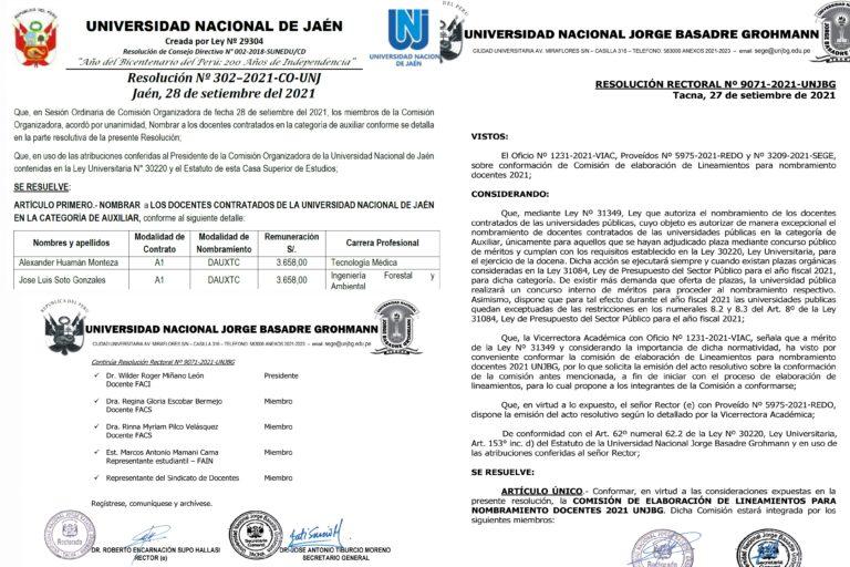 Universidades públicas respaldan el derecho fundamental al empleo de docentes ganadores de concurso público